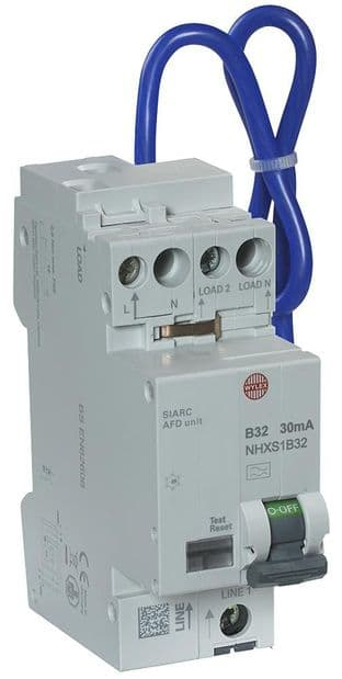 WYLEX NHXSB32AFD  32A B 30Ma Rcbo Afdd Combined Cpd